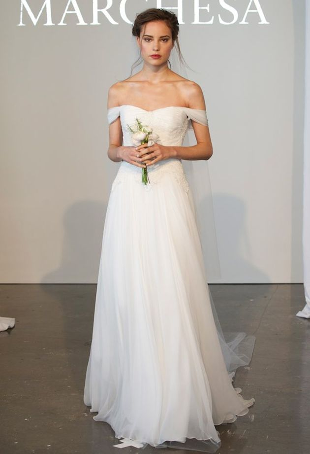 wedding dress off shoulder