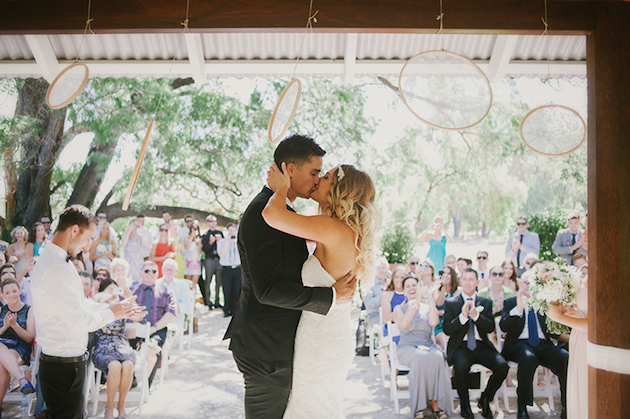 Beautiful Outdoor Wedding with a Beaming Bride | CJ Williams Photography | Bridal Musings Wedding Blog 10