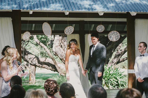 Beautiful Outdoor Wedding with a Beaming Bride | CJ Williams Photography | Bridal Musings Wedding Blog 8