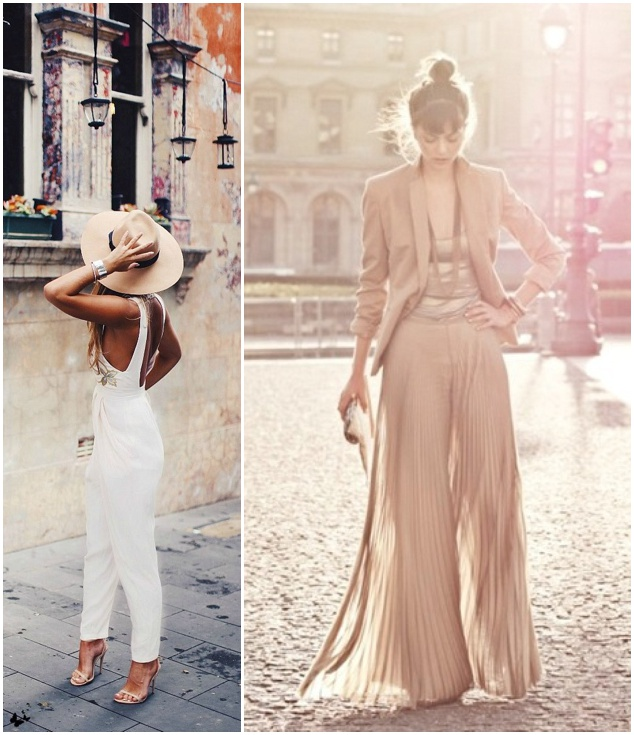 Jumpsuits To Wear To A Wedding: AND THE BRIDE WORE THE TROUSERS… WEDDING DAY JUMPSUITS