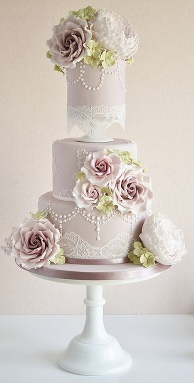 2014 Wedding Cake Trends #5 Vintage Wedding Cakes Bridal ...