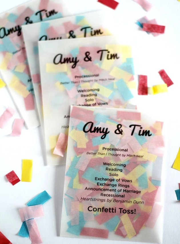 The top 10 fun & fabulous wedding confetti ideas! - Confetti Programs