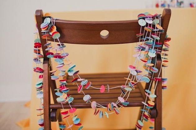 The top 10 fun & fabulous wedding confetti ideas! - Confetti Chair Backs