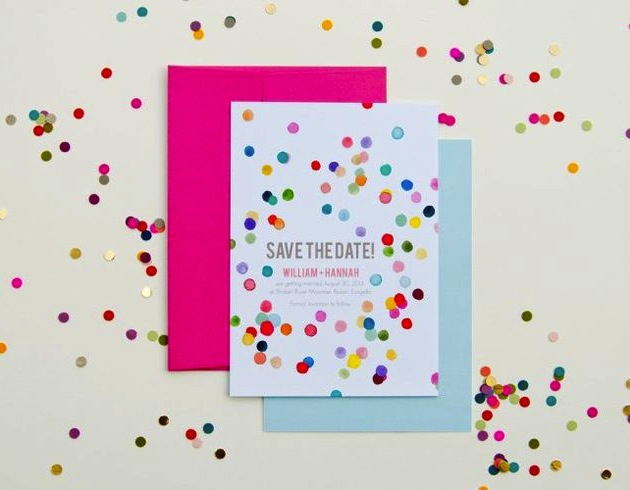The top 10 fun & fabulous wedding confetti ideas!  - Confetti Save the Dates