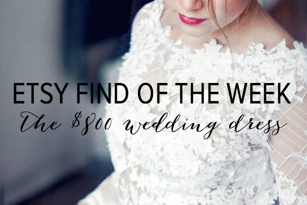 Bridal Musings Etsy Find Of The Week: Lace Wedding Dress