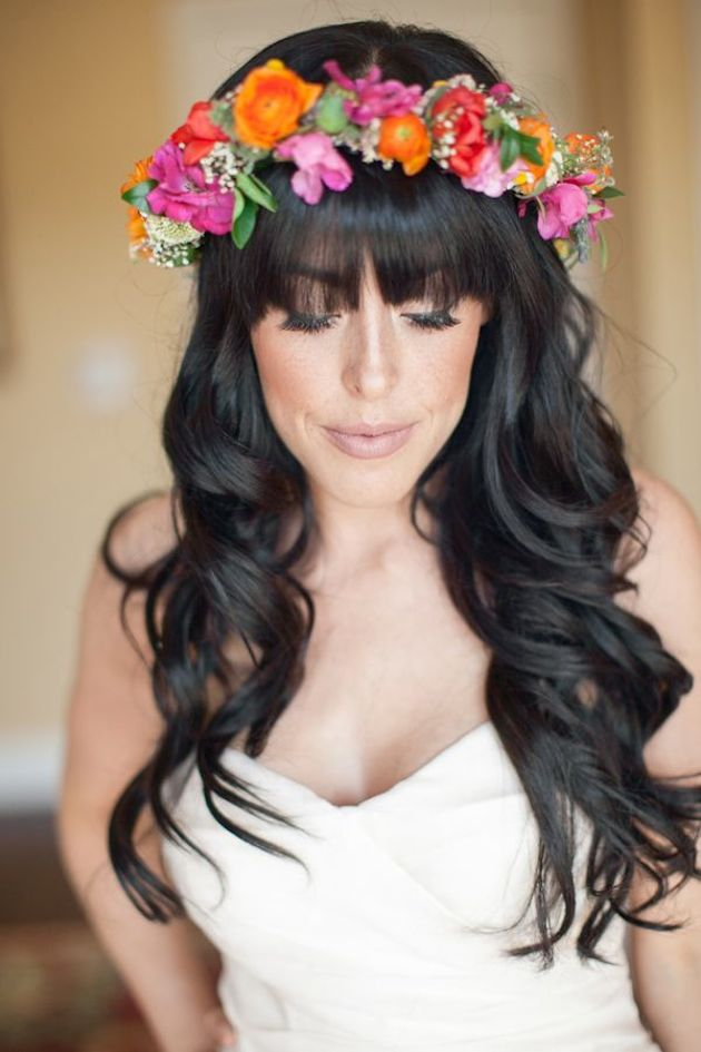 Brides With Bangs | Brides with Fringes | Wedding Hair Inspiration | Bridal Musings 6