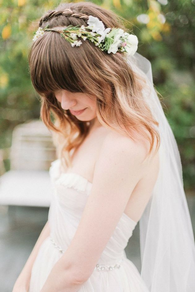 ... Bangs | Brides with Fringes | Wedding Hair Inspiration | Bridal