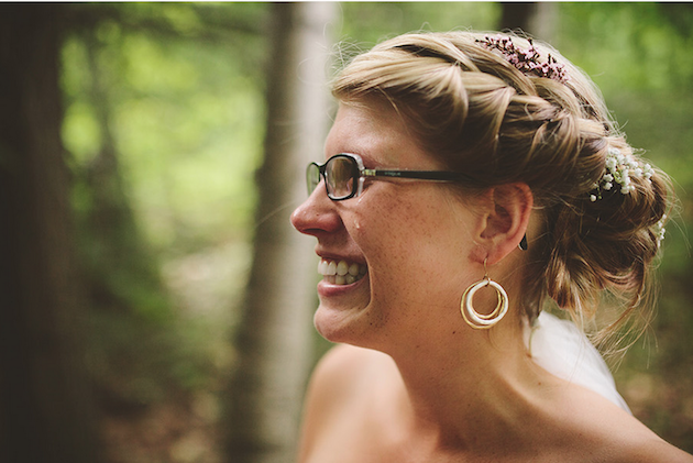 Brides with Glasses | Bridal Musings Wedding Blog 12