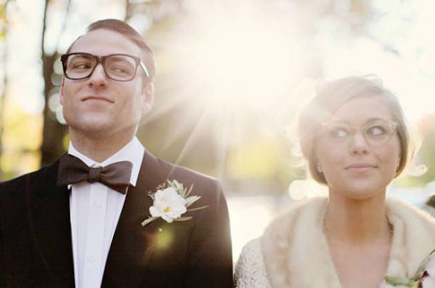 Brides with Glasses | Bridal Musings Wedding Blog 13
