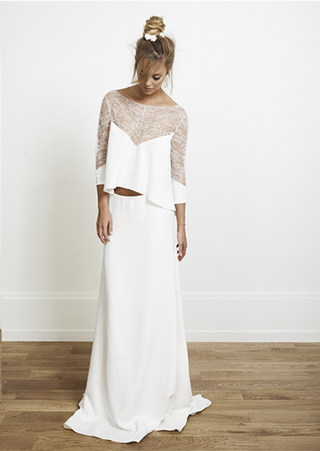 Gorgeous crop top wedding dress inspiration bridal musings