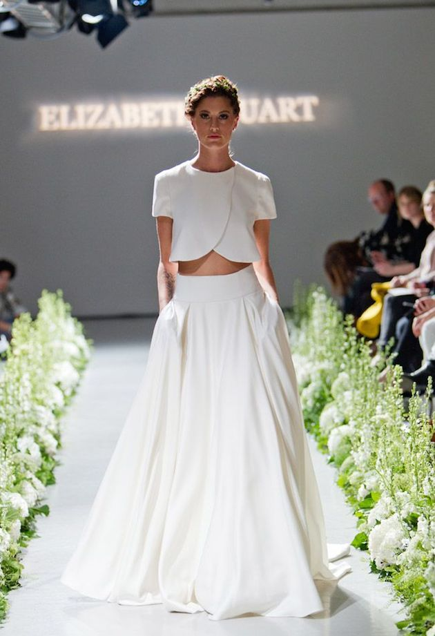 Gorgeous Crop Top Wedding Dress Inspiration | Bridal Musings - Weddbook
