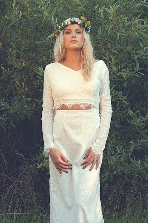 crop top wedding dresses bridal musings wedding blog13