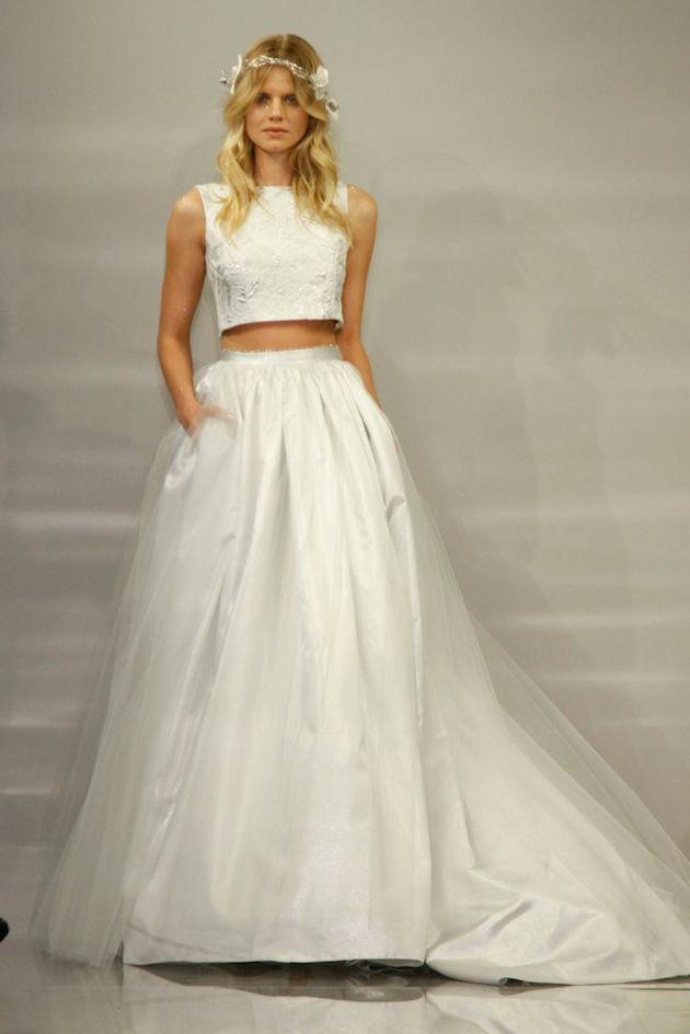 blog wedding trend crop bridesmaid dresses