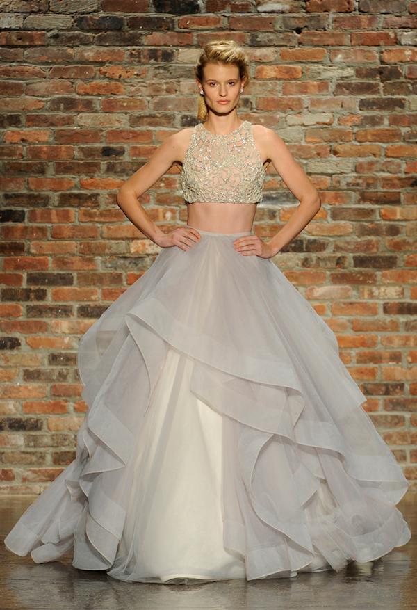 dare bare brides gorgeous crop wedding gowns