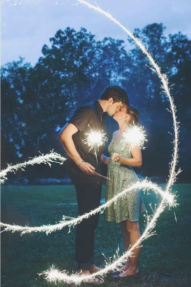 Fireworks and Sparklers | 4th of July Wedding Ideas | Bridal Musings Wedding Blog 16