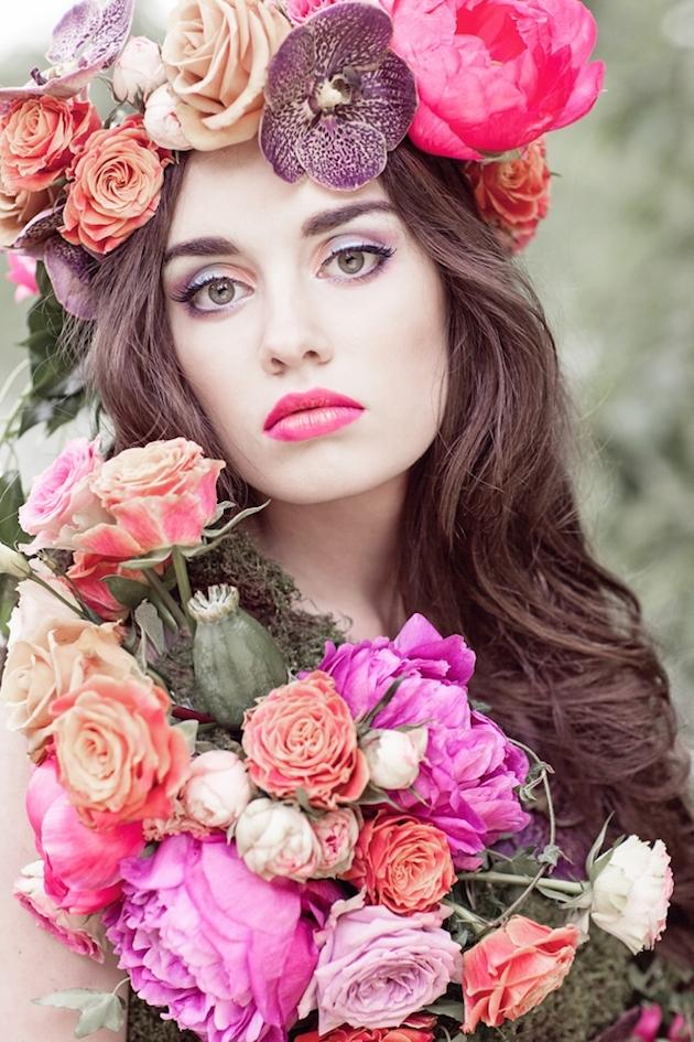 Bridal Makeup Flower Making : Floral filled woodland wedding inspiration bridal