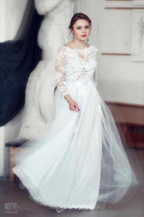 Lace wedding dress by carousel fashion on etsy bridal musings wedding