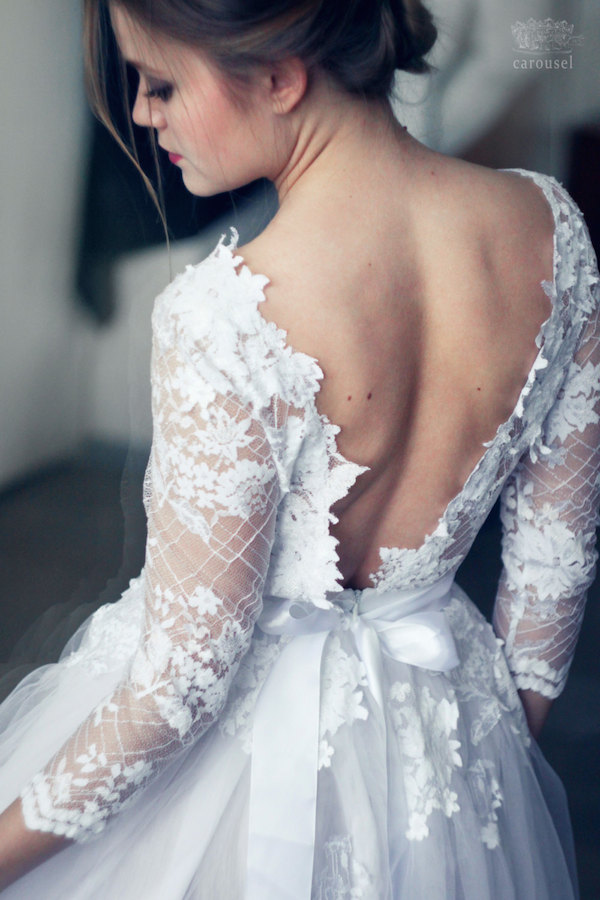800 Lace Wedding Dress From Etsy By Carousel Fashion