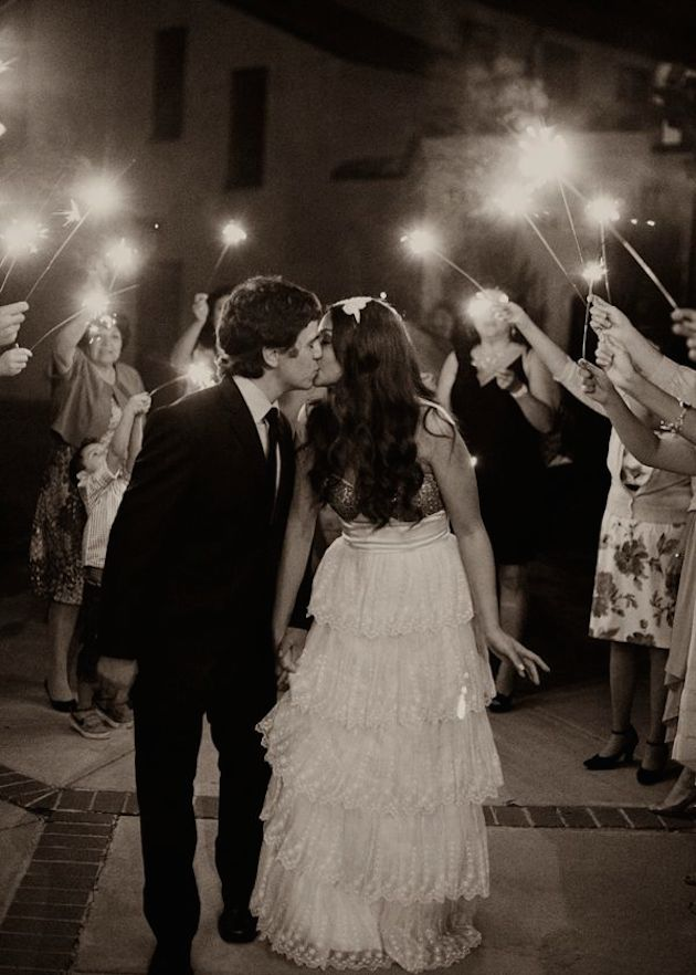 Sparklers and Fireworks | 4th of July Wedding Inspiration | Bridal Musings Wedding Blog