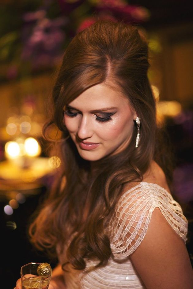 15 Gorgeous Half-Up Half-Down Hairstyles for Your Wedding | Bridal Musings Wedding Blog 1