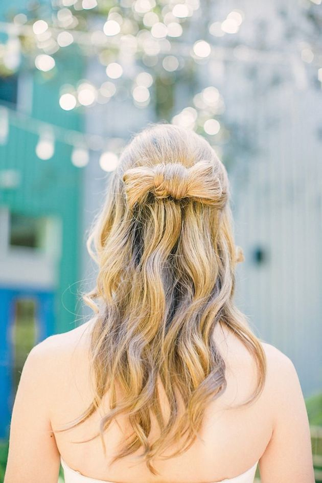 15 Gorgeous Half-Up Half-Down Hairstyles for Your Wedding | Bridal Musings Wedding Blog 11