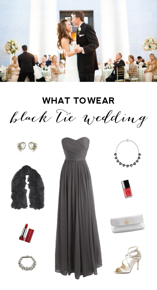 what to wear to a black tie wedding models picture