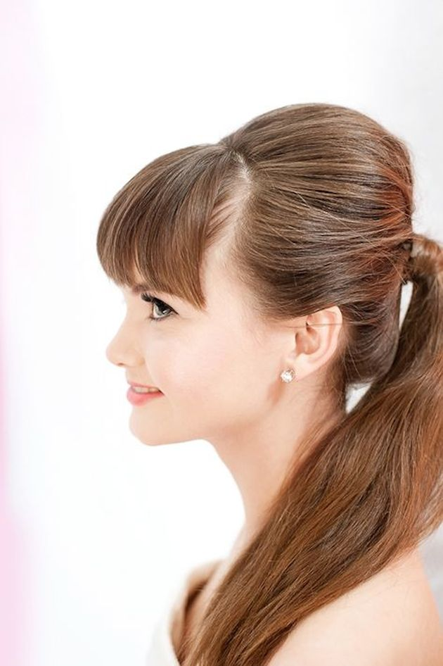 Brides with Pony Tails | Pony Tail Wedding Hair | Bridal Musings Wedding Blog4