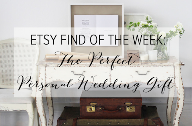 Etsy Find of the Week | Sarah & Bendrix Framed Vows | Bridal Musings Wedding Blog