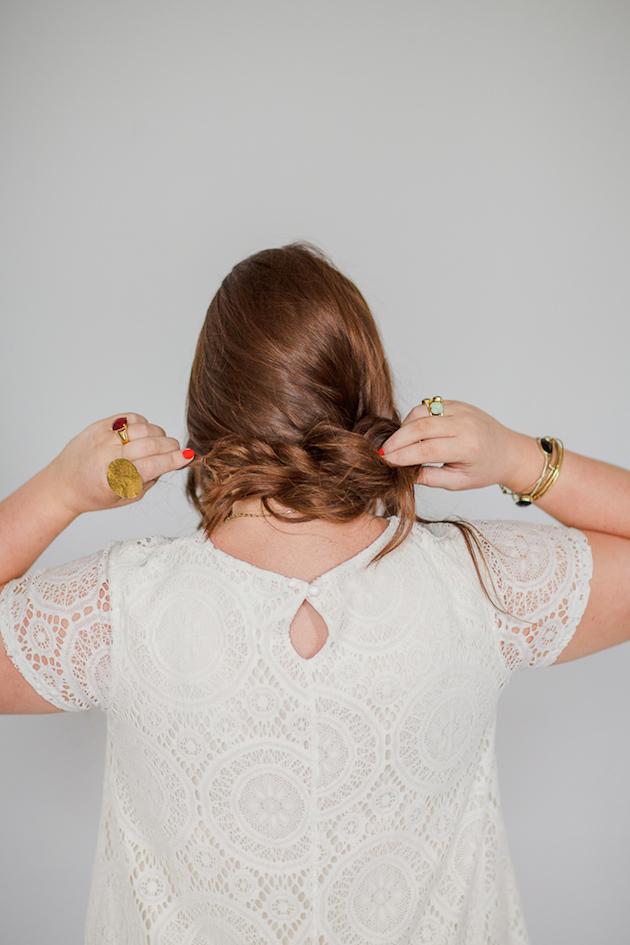 Tousled Upstyle Wedding Hair Tutorial | Bridal Musings Wedding Blog 2