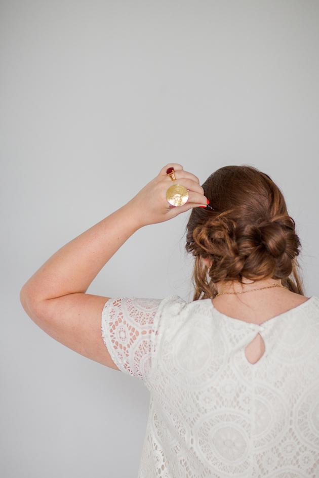 Tousled Upstyle Wedding Hair Tutorial | Bridal Musings Wedding Blog 3