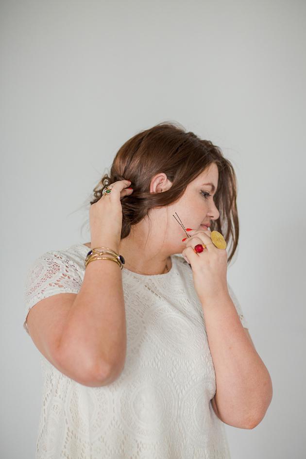 Tousled Upstyle Wedding Hair Tutorial | Bridal Musings Wedding Blog 5