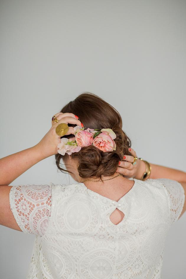 Tousled Upstyle Wedding Hair Tutorial | Bridal Musings Wedding Blog 7