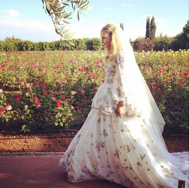 15 Floral Wedding Dresses | Alternative Wedding Dresses | Bridal Musings Wedding Blog 10