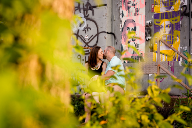 Cool Brooklyn Engagement Session | Farnaz K Studio | Bridal Musings Wedding Blog 1