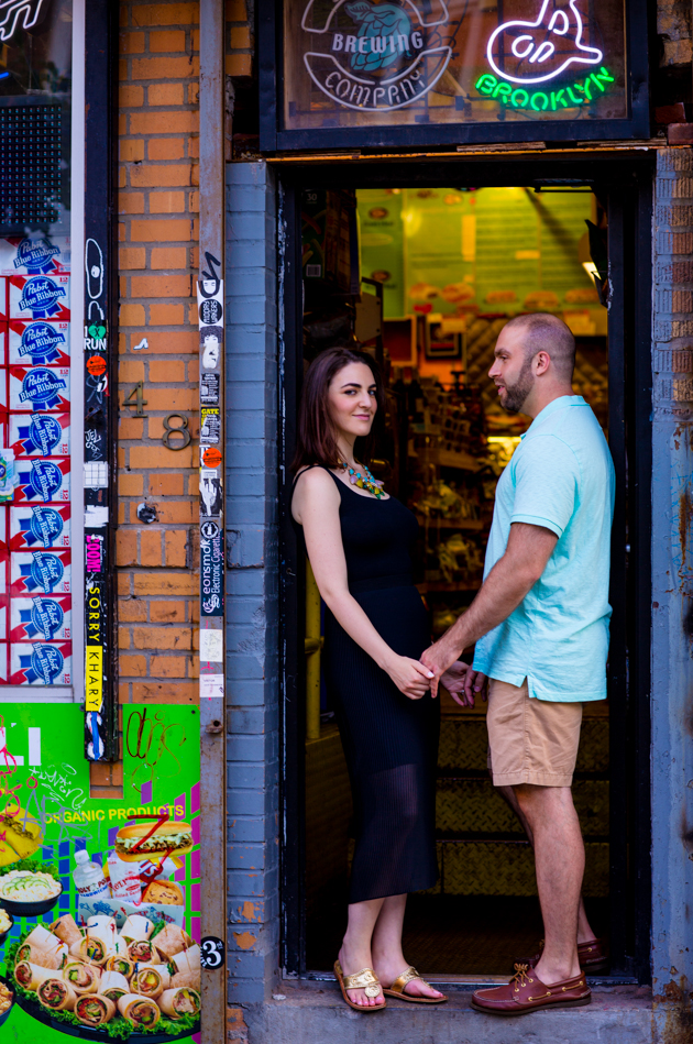 Cool Brooklyn Engagement Session | Farnaz K Studio | Bridal Musings Wedding Blog 4