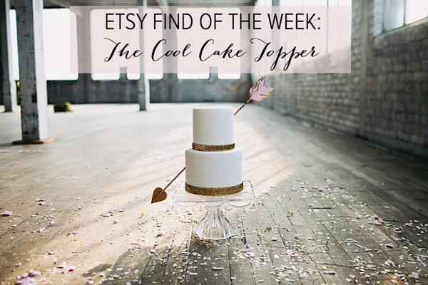 Etsy Find of the Week Cupid's Arrow Cake Topper | Bridal Musings Wedding Blog 2