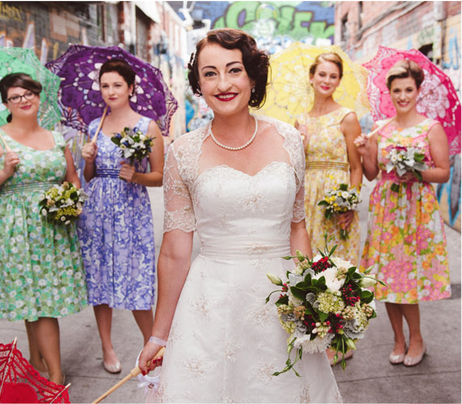 Etsy Find Of The Week The Retro Bridesmaid Dres Weddbook