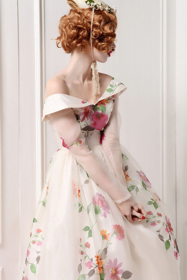 Floral Wedding Dress | Bridal Musings Wedding Blog