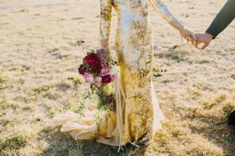 20 Gorgeous & Glamorous Metallic Wedding Dresses