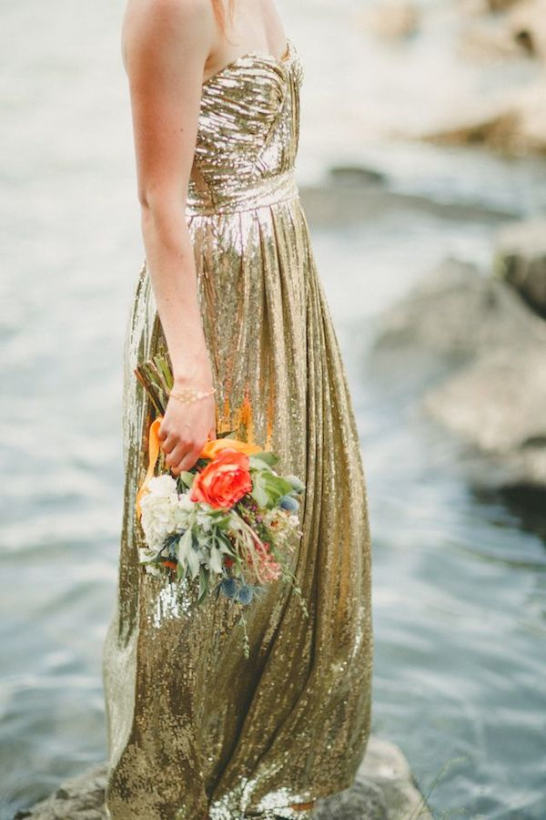 Metallic Wedding Dresses | Bridal Musings Wedding Blog 22