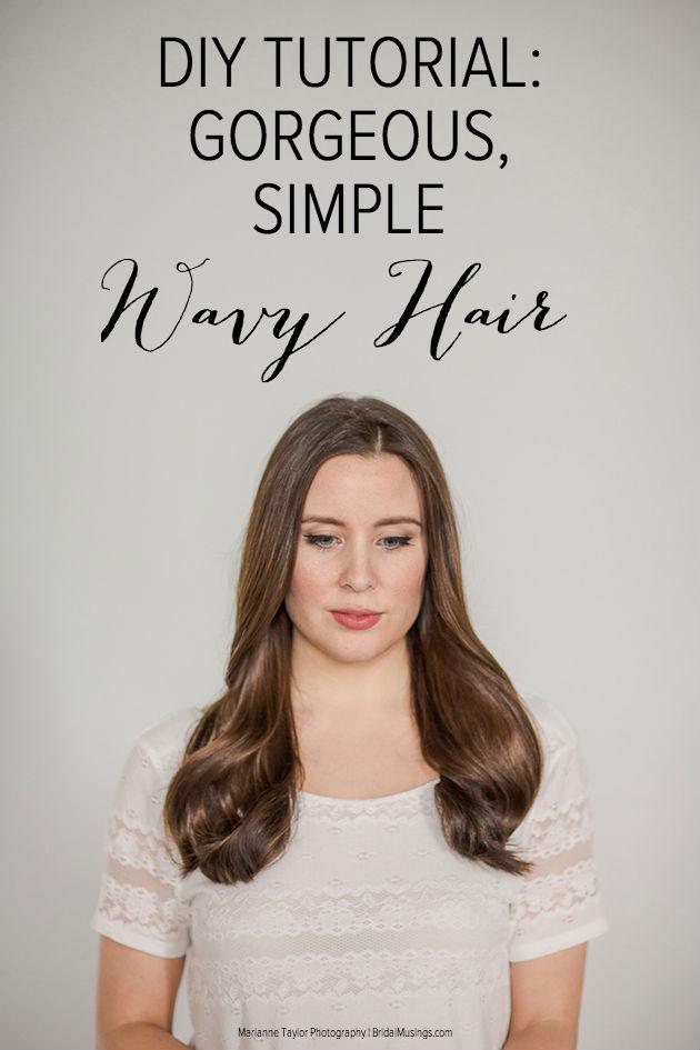 Pin Gorgeously Simple Wavy Hair Bridal Musings Wedding Blog 10