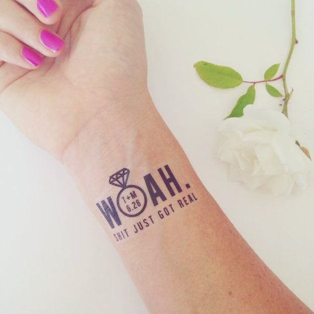 Temporary Wedding Tattoos | Bridal Musings Wedding Blog 1