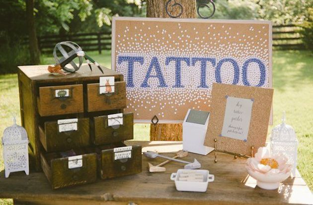 Temporary Wedding Tattoos | Bridal Musings Wedding Blog 2