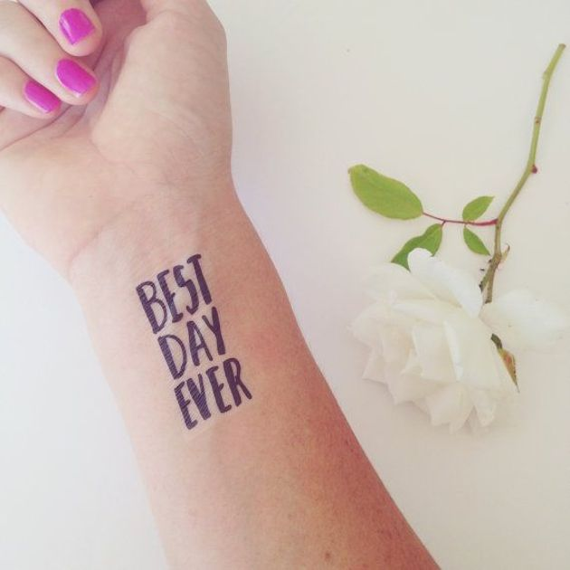 Mini trend alert temporary tattoos for your wedding for Custom temporary tattoos that look real