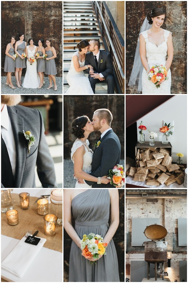 Cool Cotton Mill Wedding With A Modern Rustic Colour Palette ...