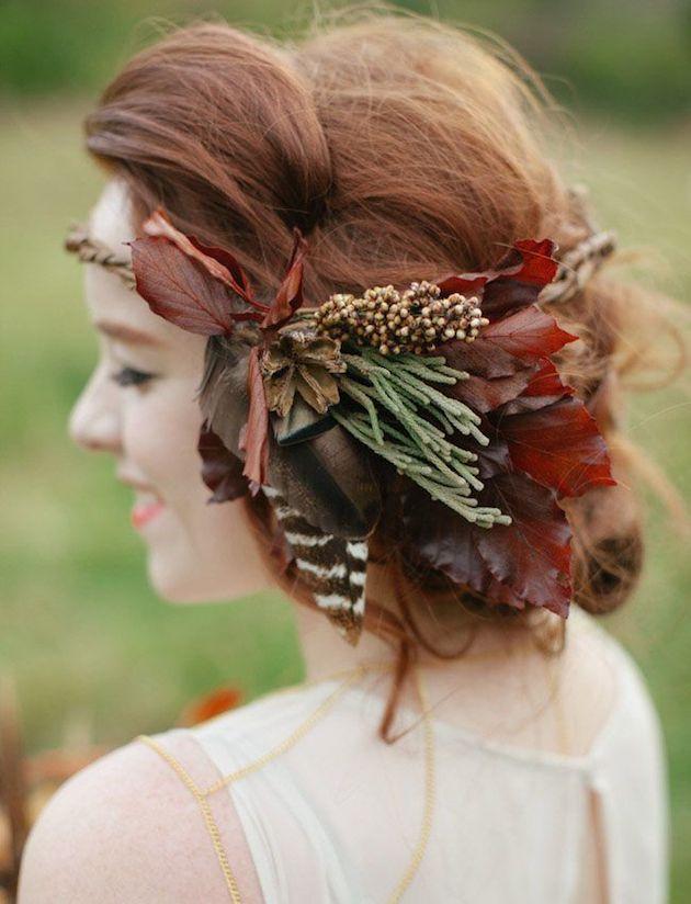 15 Leaf Ideas for Fall Weddings | Bridal Musings Wedding Blog 10