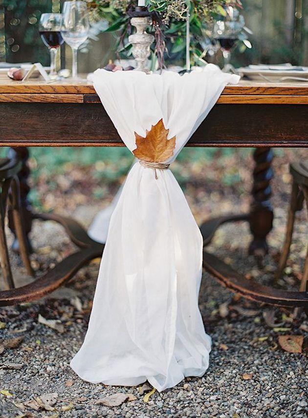 15 Leaf Ideas for Fall Weddings | Bridal Musings Wedding Blog 1