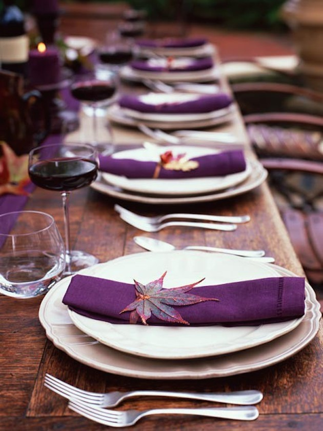 15 Leaf Ideas for Fall Weddings | Bridal Musings Wedding Blog 14