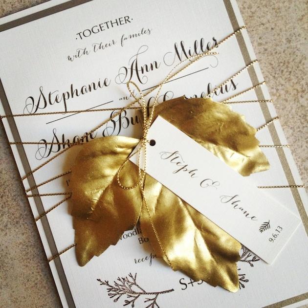15 Leaf Ideas for Fall Weddings | Bridal Musings Wedding Blog 19