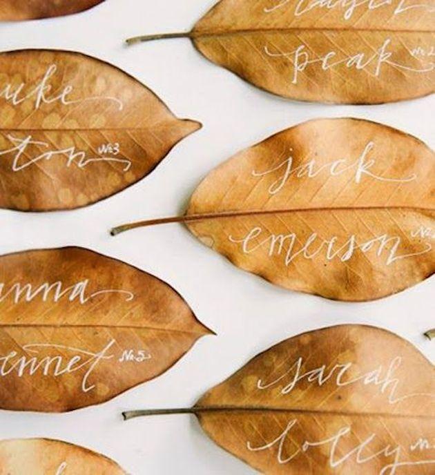 15 Leaf Ideas for Fall Weddings | Bridal Musings Wedding Blog 3